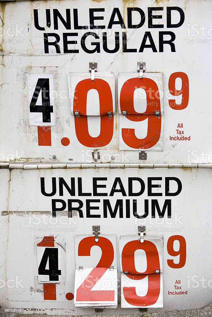 Expensive Gas covering up the early prices royalty-free stock photo