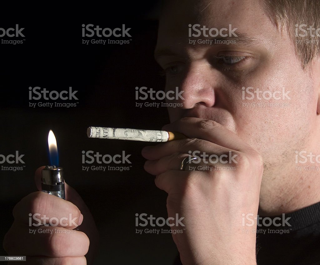 Expensive Habit royalty-free stock photo