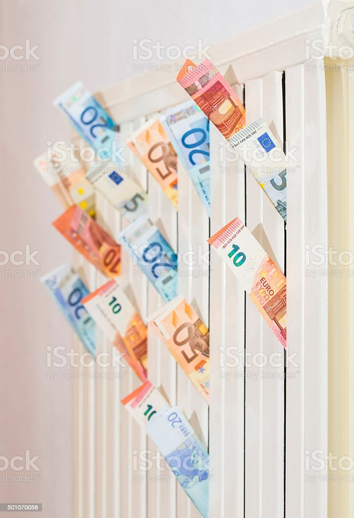 Expensive heating stock photo