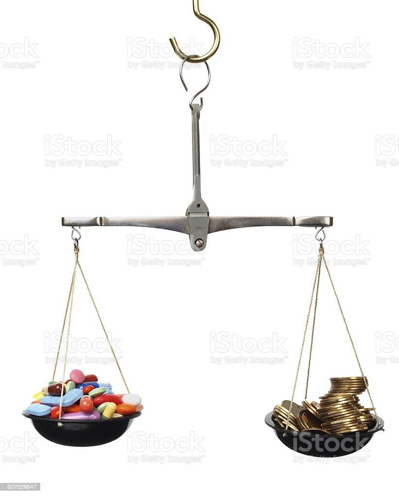 Expensive medicine stock photo