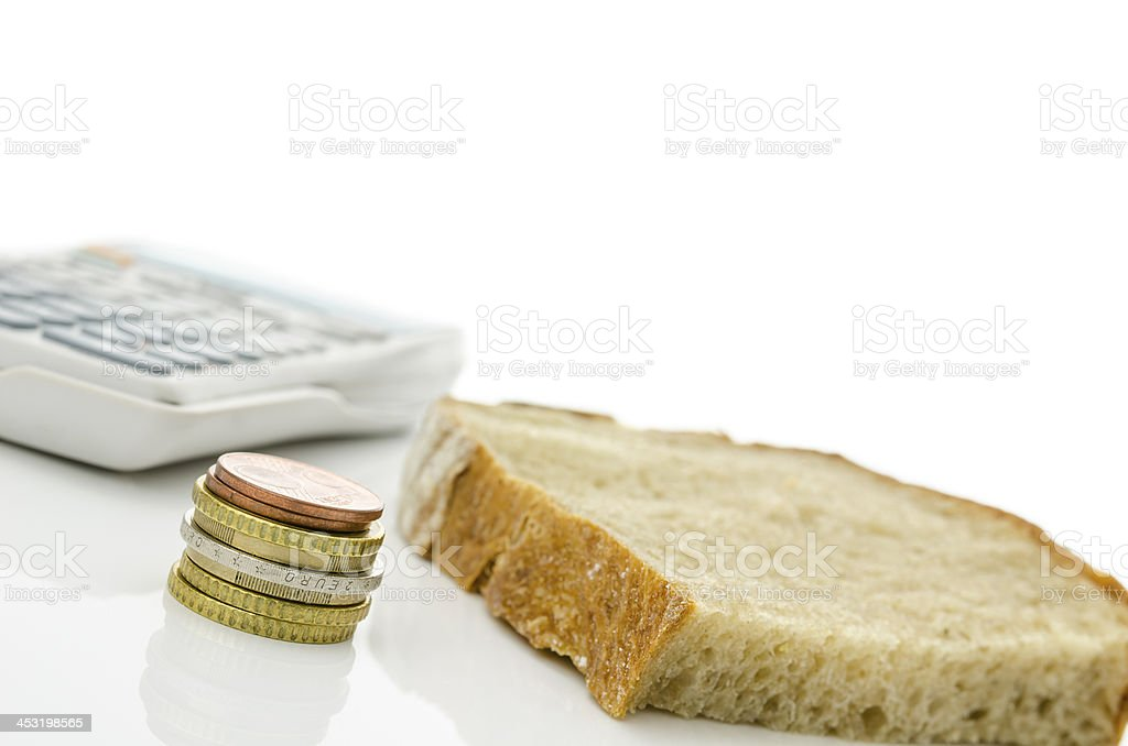 Expensive monthly food costs royalty-free stock photo