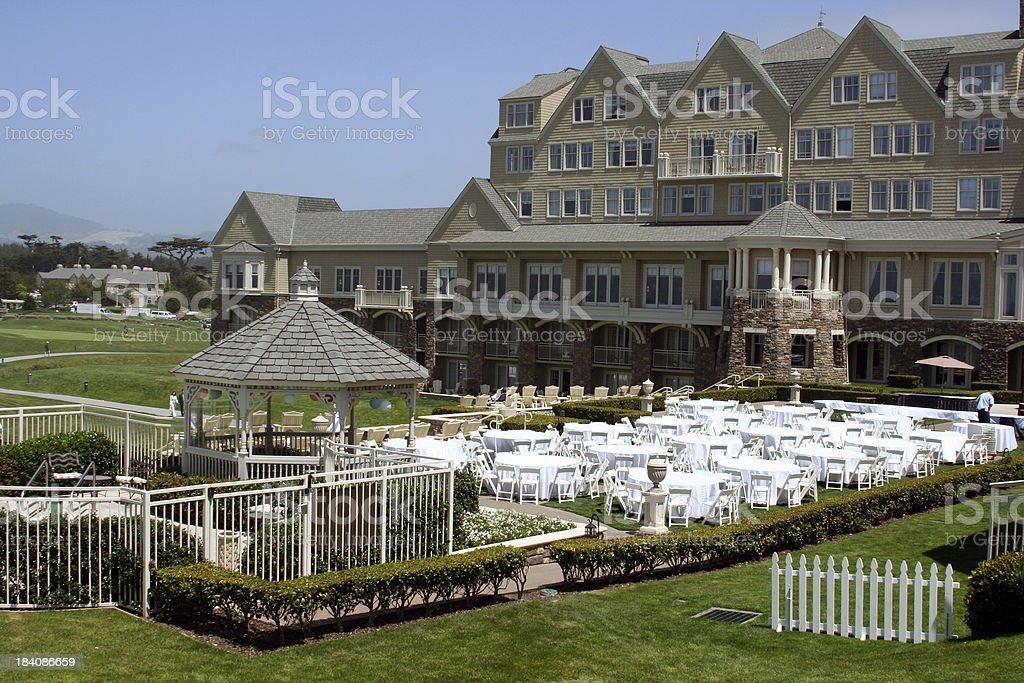 Expensive Outdoor Wedding Venue in California stock photo