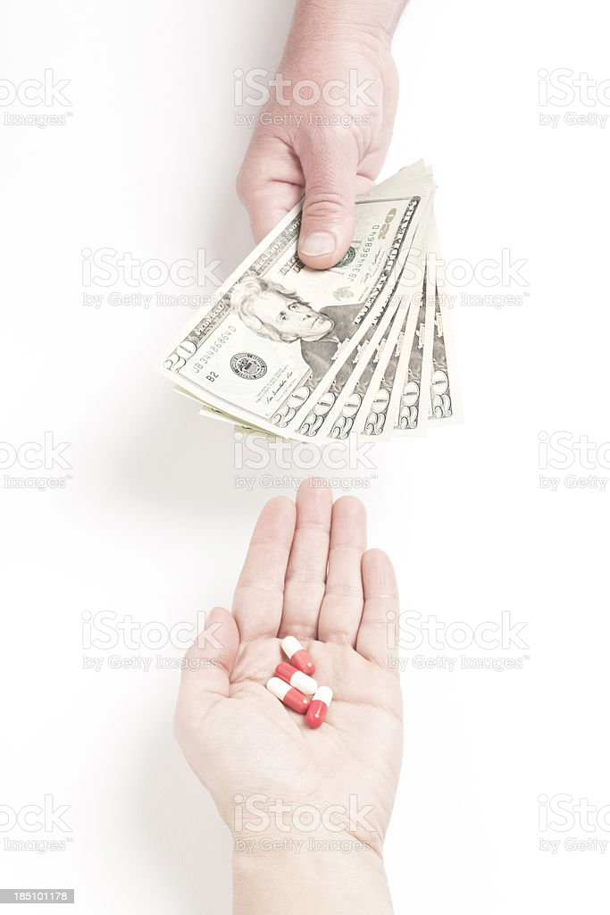 Expensive Pills royalty-free stock photo