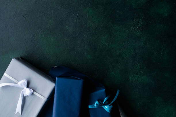 expensive present for rich men on dark background stock photo
