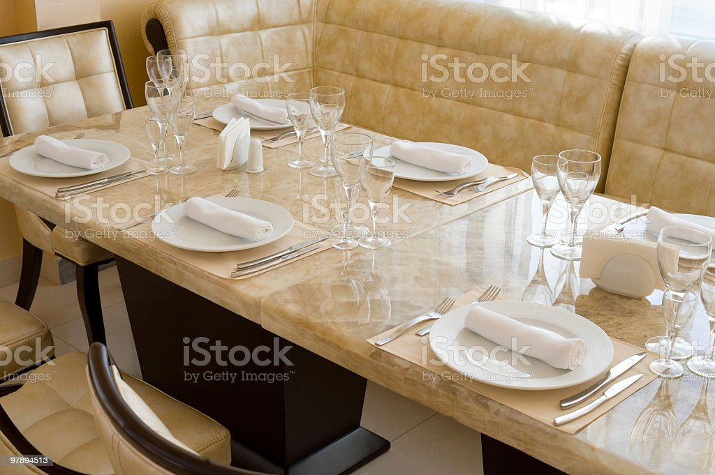 expensive restaurant interior royalty-free stock photo