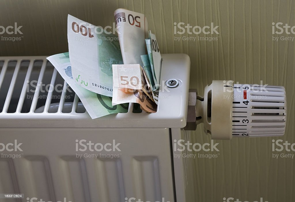 expensive to heat stock photo