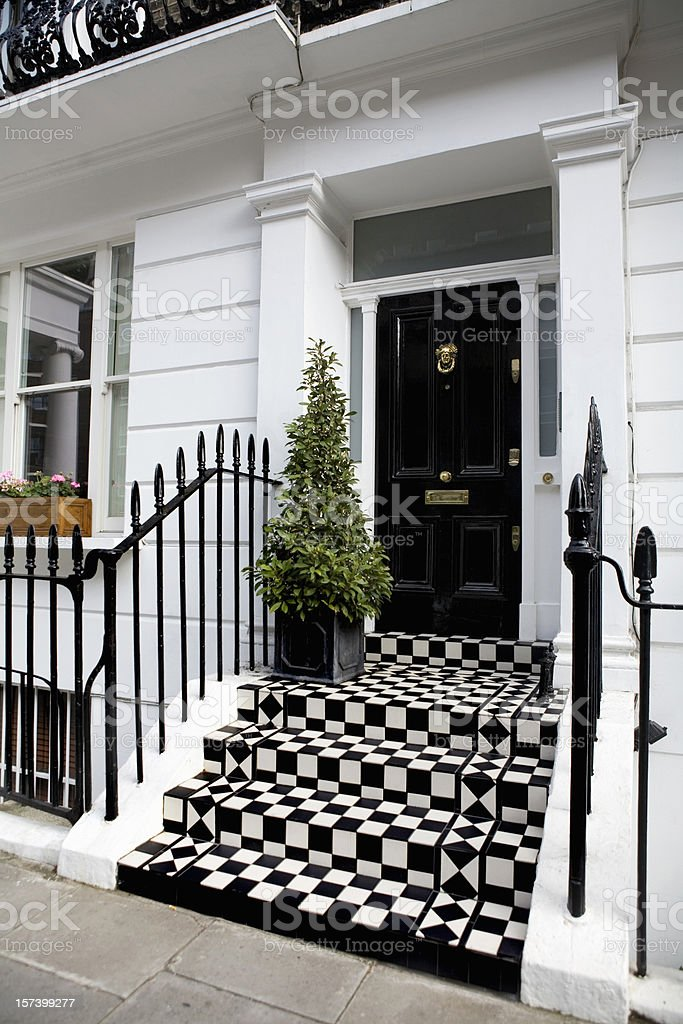 Expensive Townhouse in Chelsea London stock photo