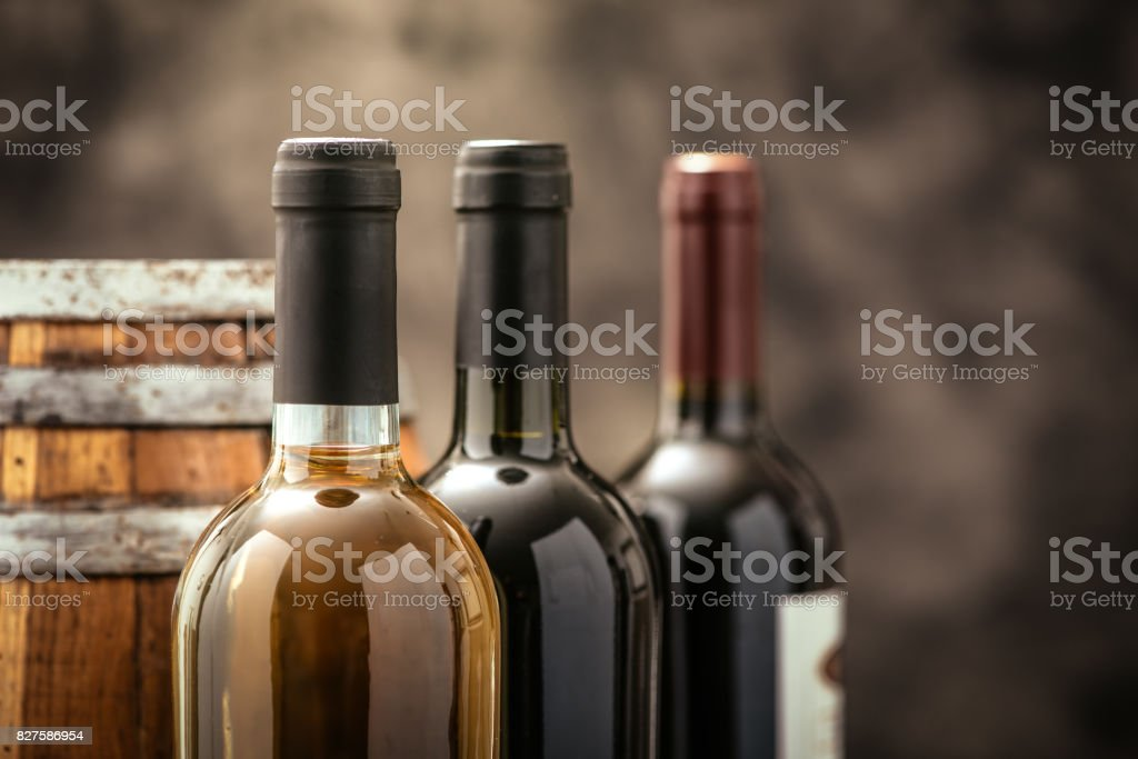 Expensive wine collection stock photo