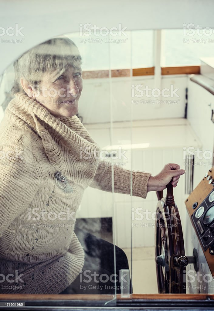 Experience at the Helm royalty-free stock photo