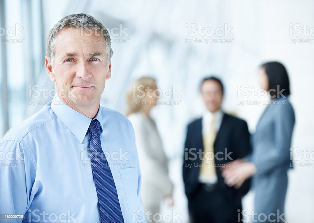 Experienced and successful business manager stock photo