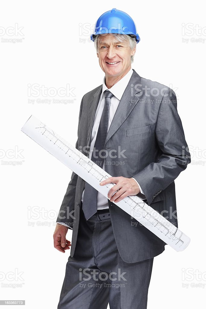 Experienced architect excited about building project royalty-free stock photo