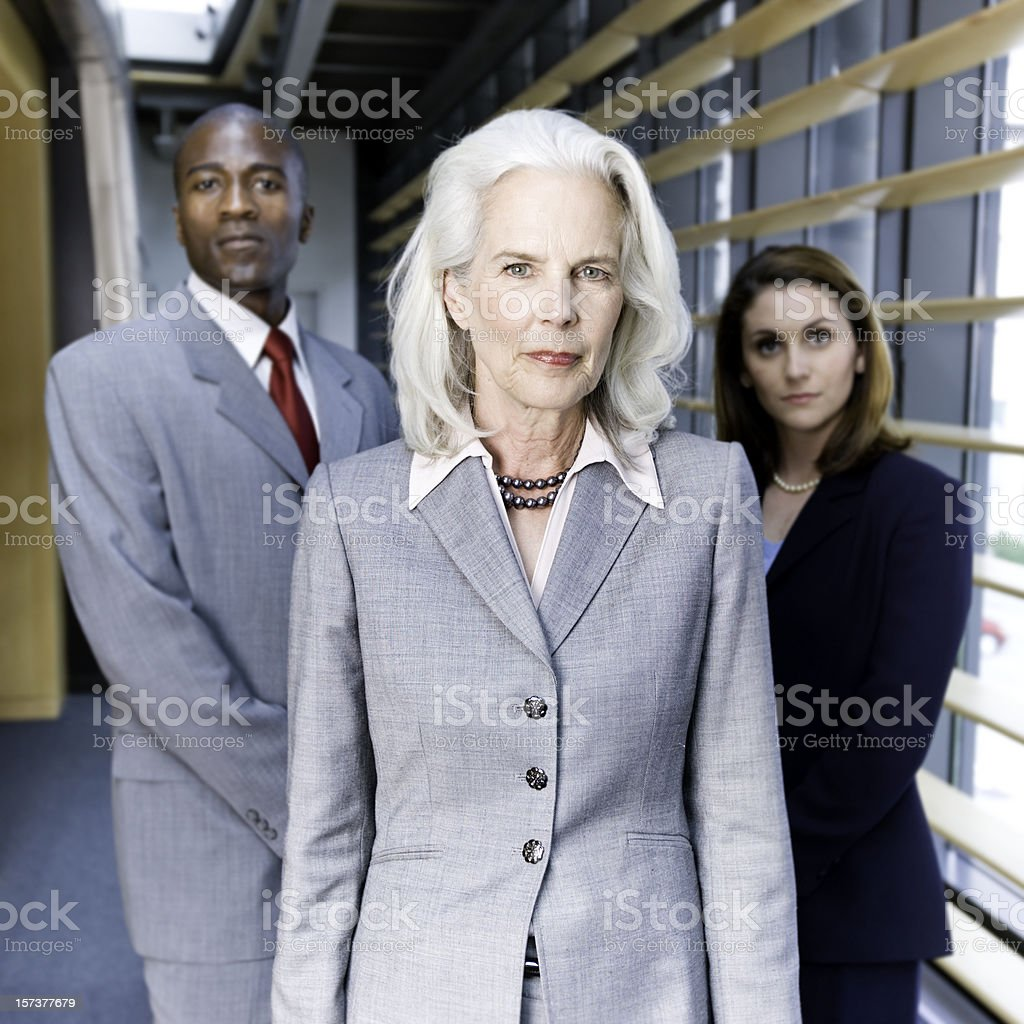 Experienced Businesswoman and her Team royalty-free stock photo