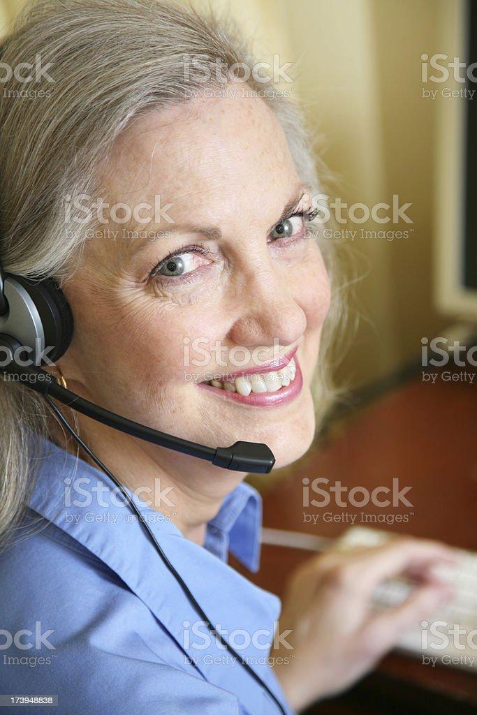 Experienced Customer Service Representative Smiling royalty-free stock photo