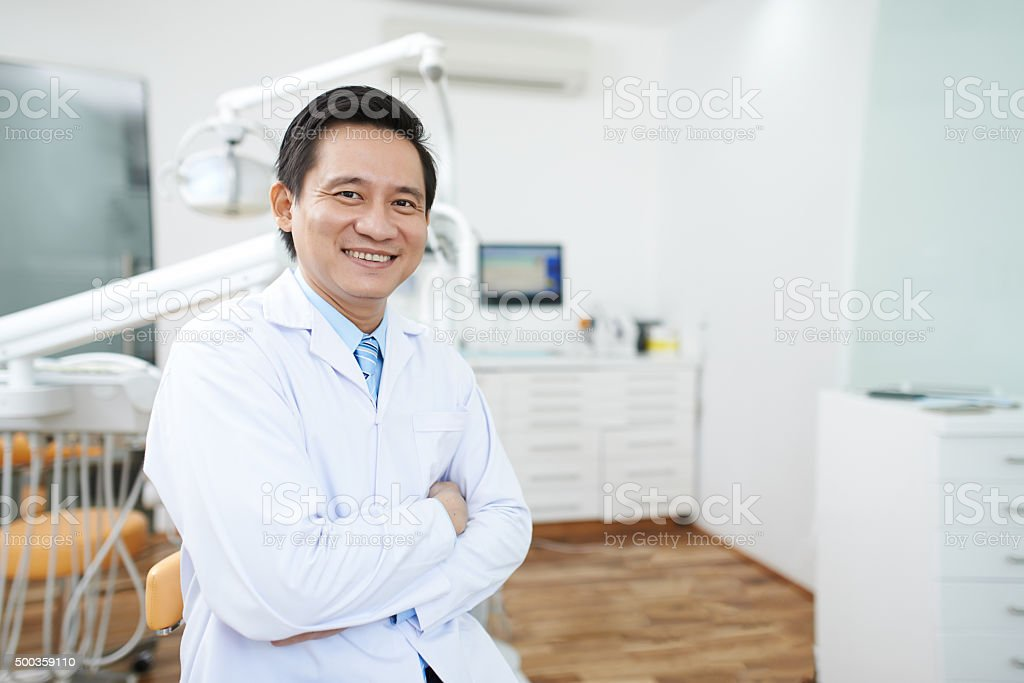 Experienced dentist stock photo
