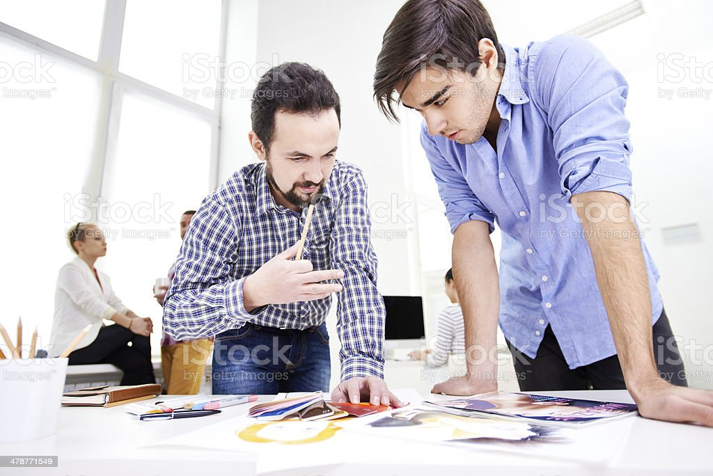 Experienced designer's advice stock photo