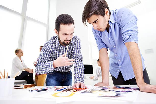 Experienced designer's advice stock photo