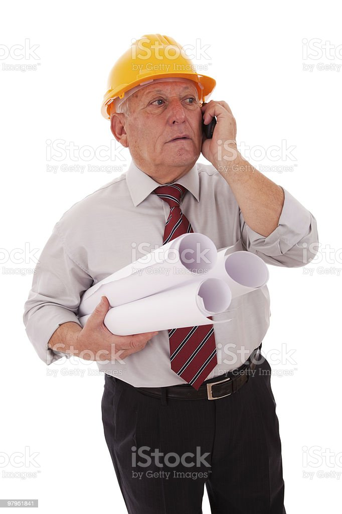 Experienced engineer royalty-free stock photo