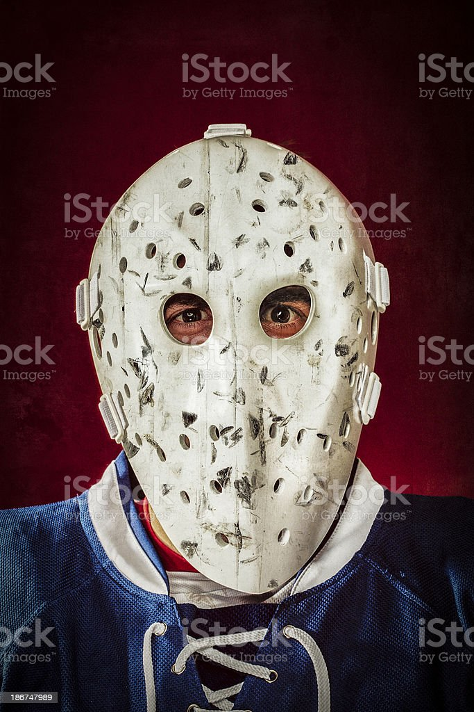 Experienced Goalie royalty-free stock photo