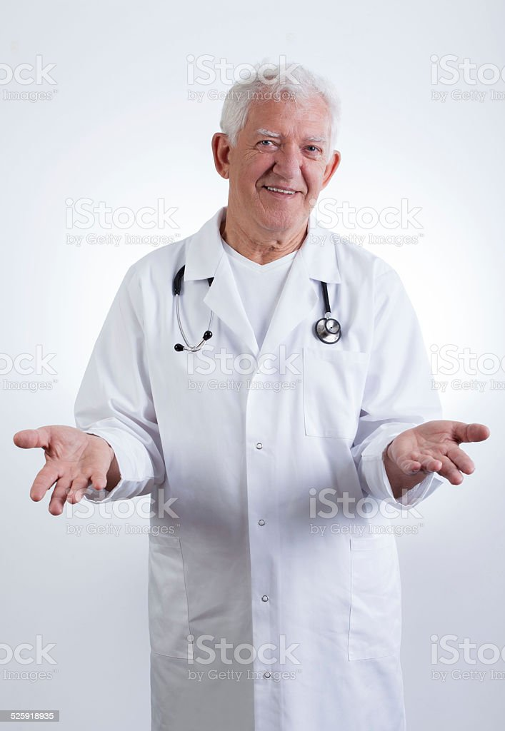 Experienced male doctor stock photo