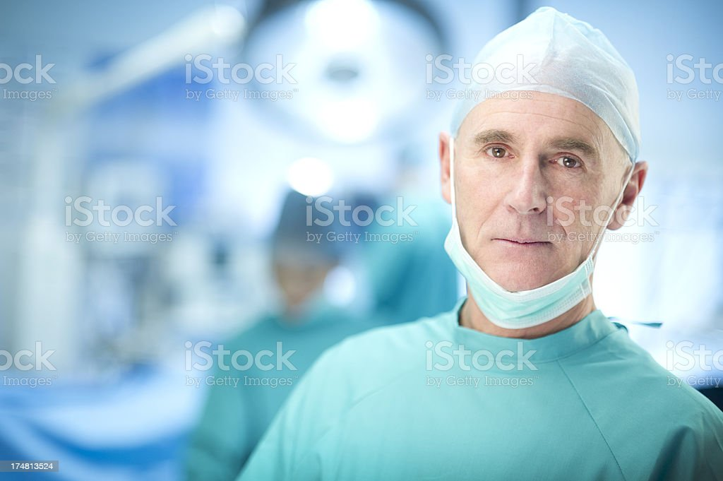 experienced surgeon stock photo
