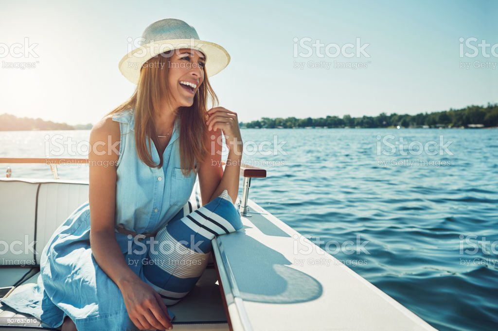 Experiencing the open sea in luxury stock photo
