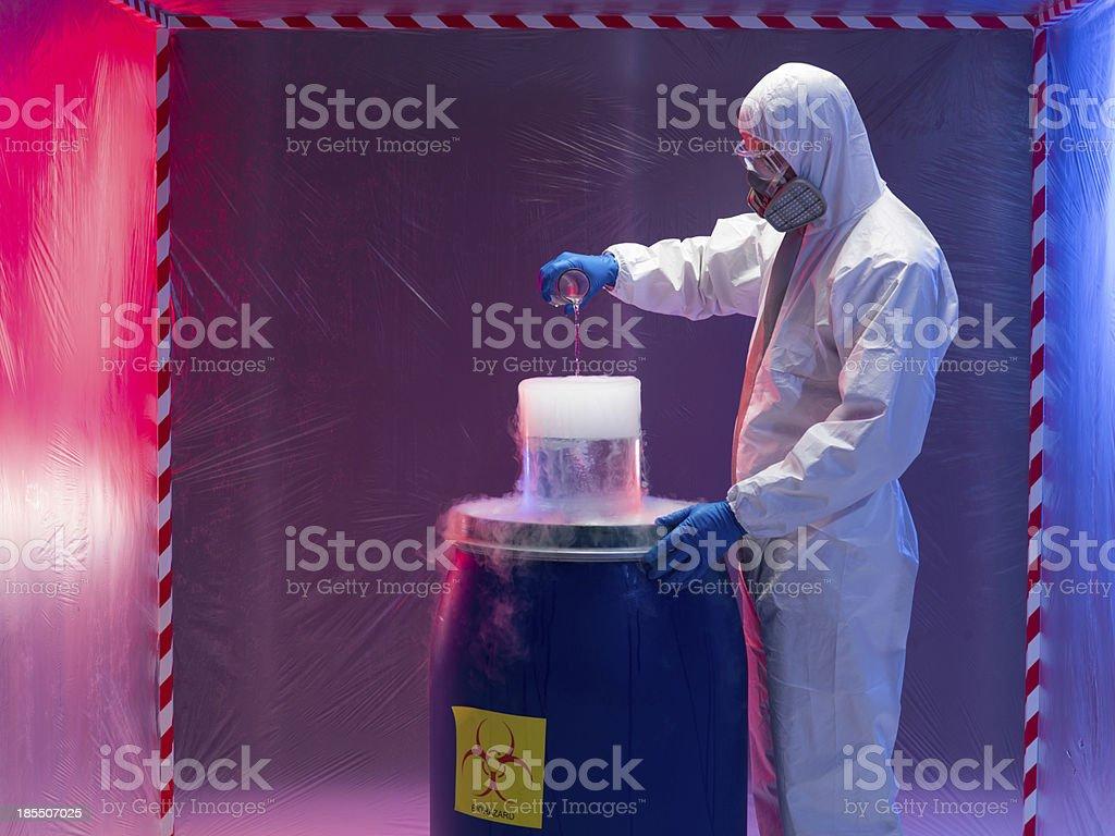 experimenting with bio hazardous waste substances royalty-free stock photo
