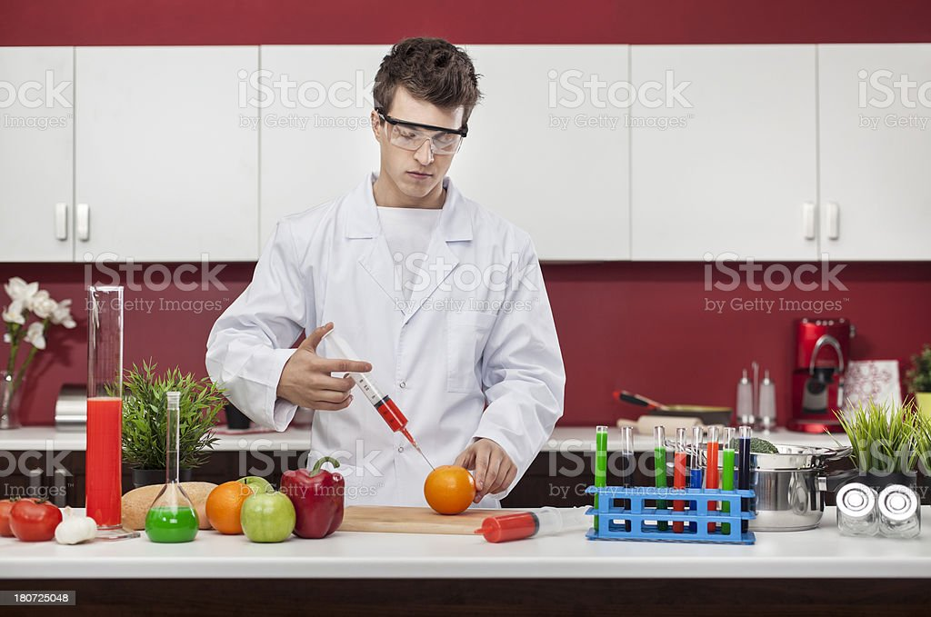 Experimenting with food stock photo