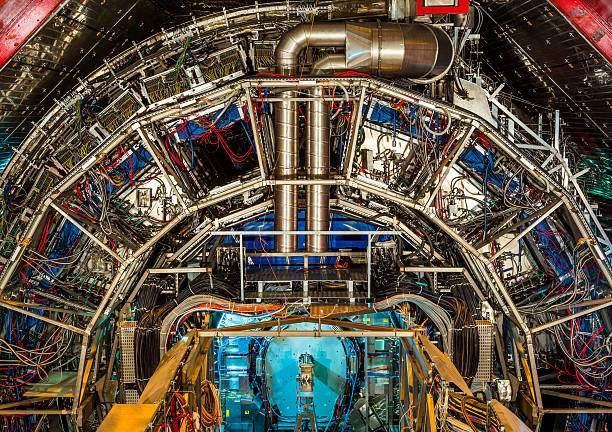 Experiments Detail ATLAS (A Toroidal LHC Apparatus) large hadron collider stock pictures, royalty-free photos & images