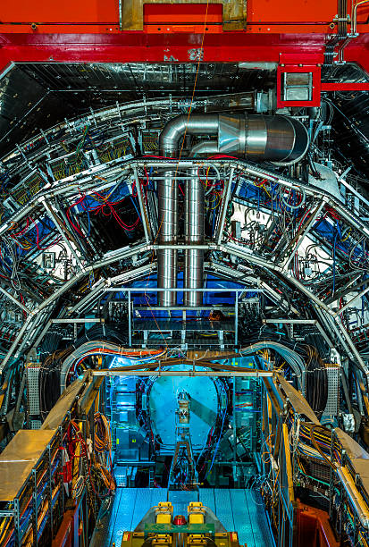 Experiments Detail Vertical ATLAS (A Toroidal LHC Apparatus) large hadron collider stock pictures, royalty-free photos & images