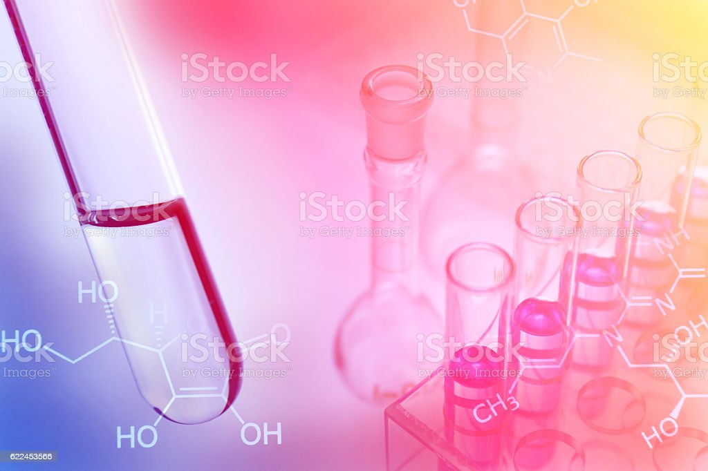 Experiments in the laboratory stock photo