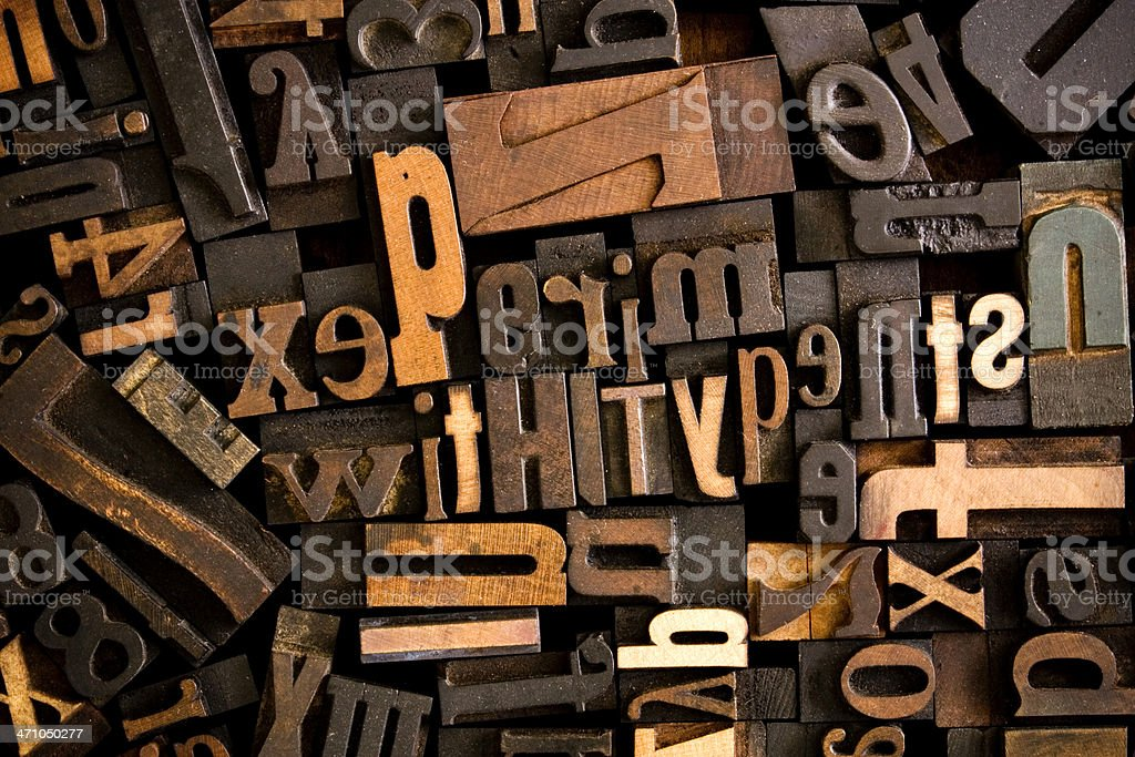 Experiments With Type stock photo