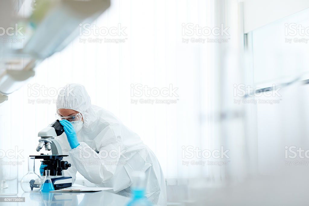 Expert at work stock photo