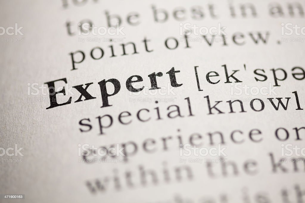 Expert definition in the dictionary stock photo