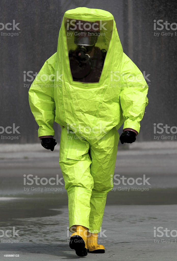 expert during the surgery in an area contaminated stock photo