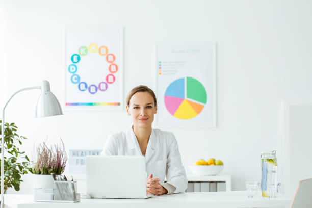 Expert on diet and nutrition stock photo