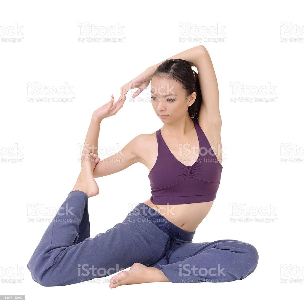 expert yoga royalty-free stock photo