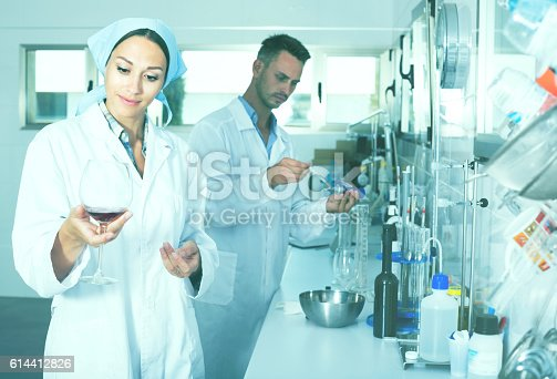 istock experts making tests in winery laboratory 614412826