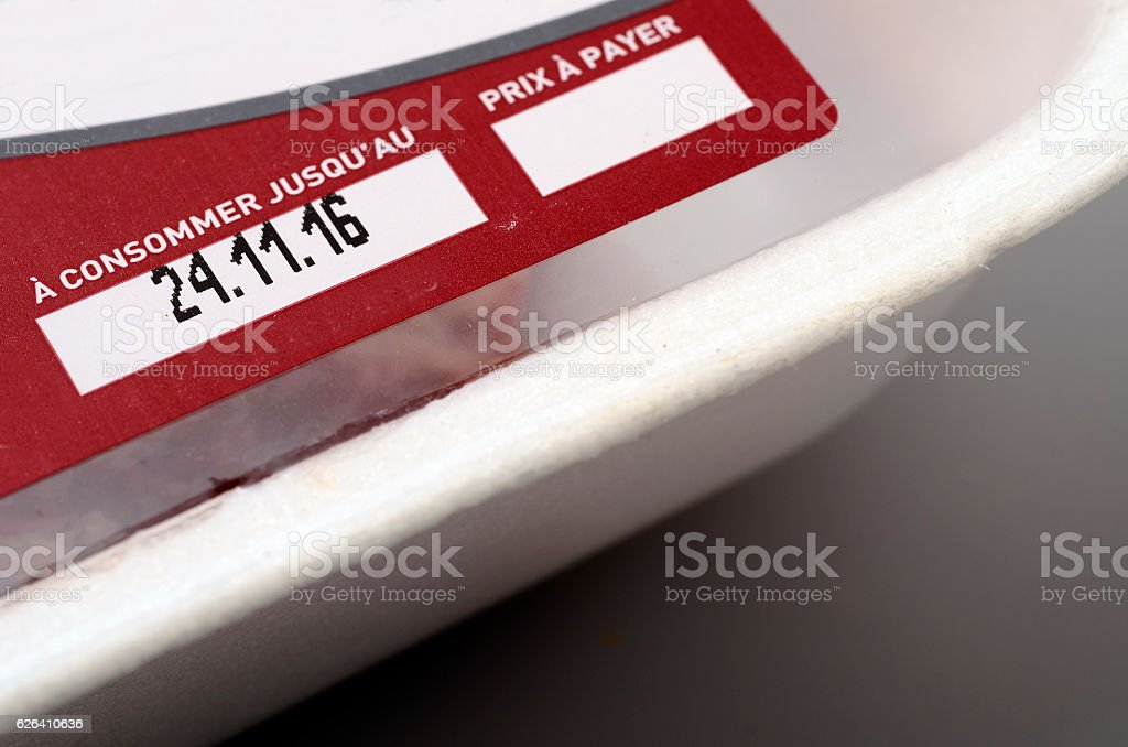 Expiration date or best before stock photo