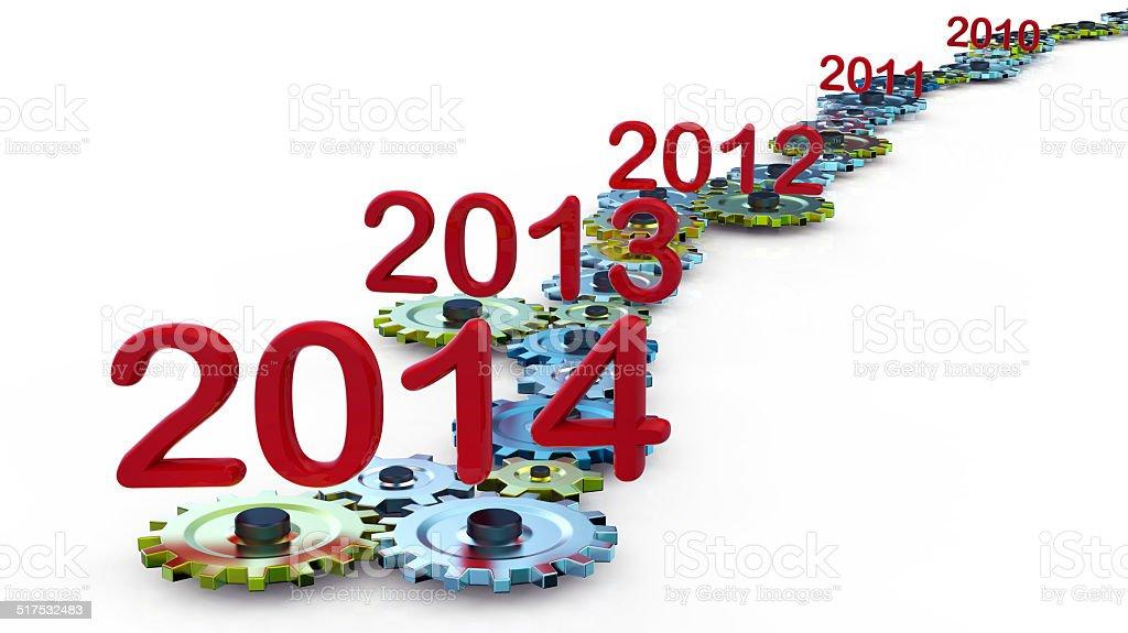 Expiration year stock photo