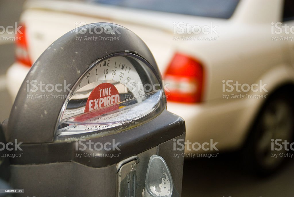 Expired Parking Meter stock photo