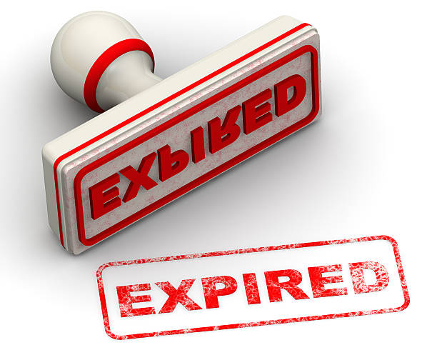 Expired. Seal and imprint stock photo