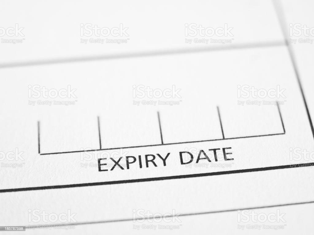 Expiry date royalty-free stock photo