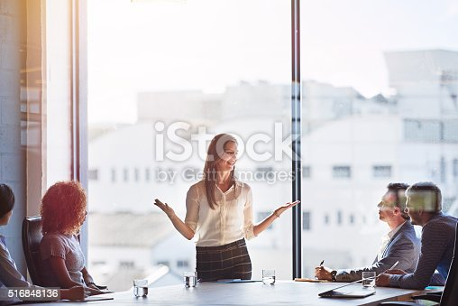 istock Explaing her ideas in detail 516848136