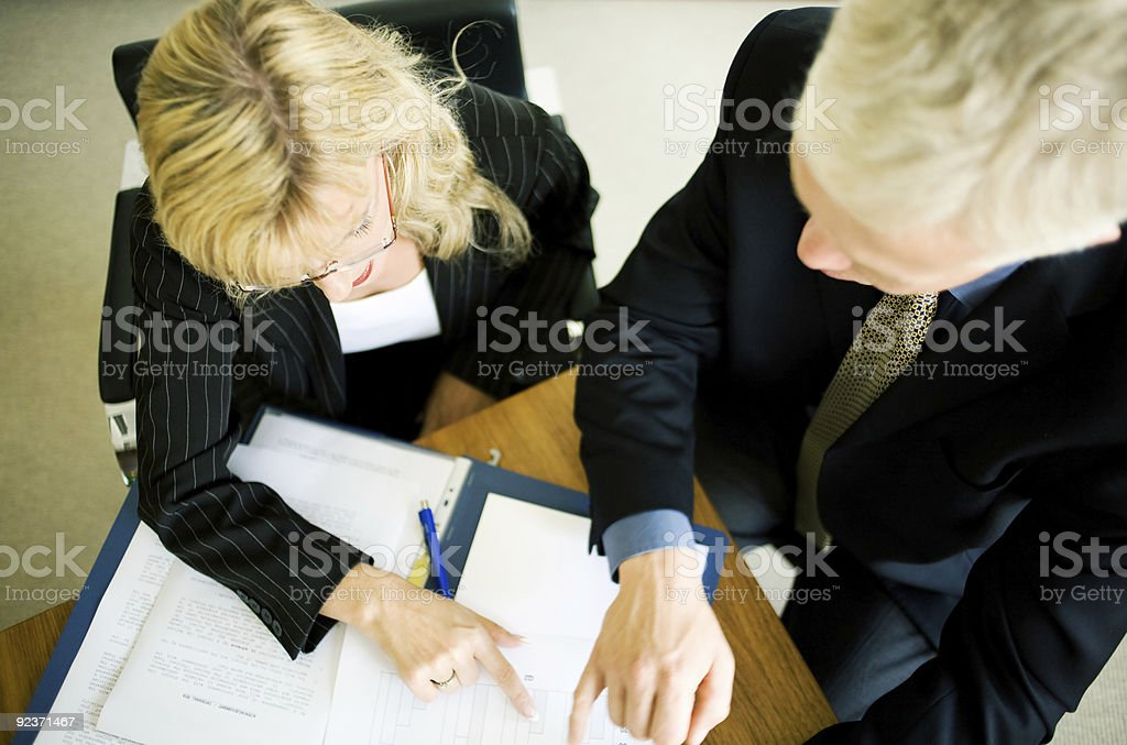 Explaing the paperstuff royalty-free stock photo