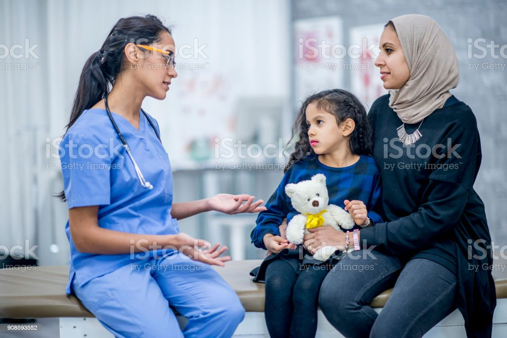 Explaining A Checkup stock photo