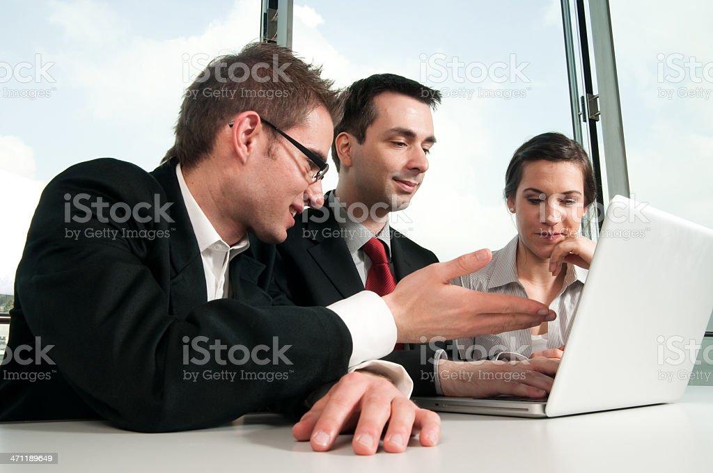 Explaining a problem royalty-free stock photo