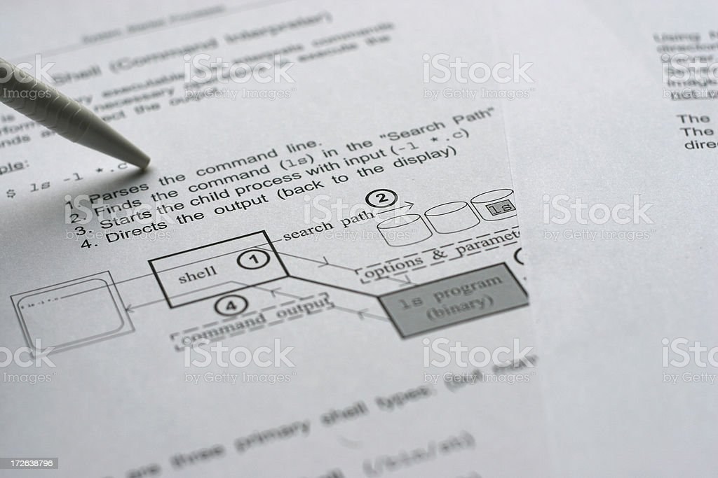 Explaining diagrams royalty-free stock photo