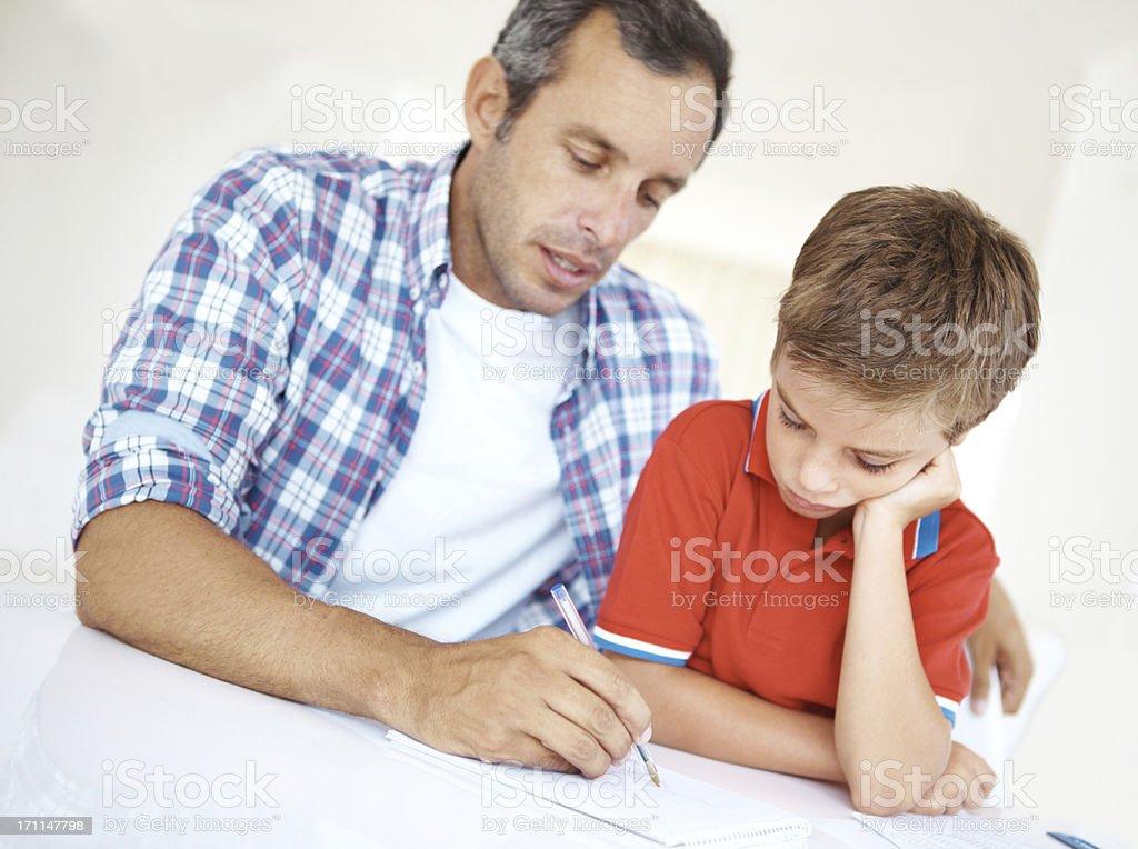 Explaining the formula for a solution - Homework/Education royalty-free stock photo