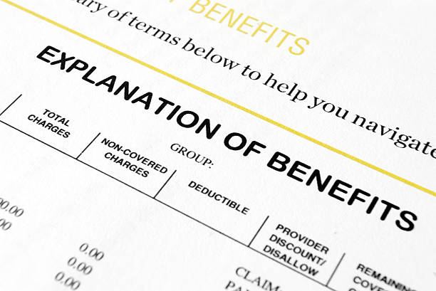 Explanation of Benefits stock photo