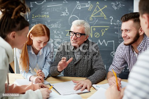 istock Explanations after lesson 946556568